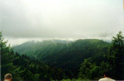 A smoky view from Newfound Gap